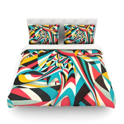 Dont Come Close Abstract by Danny Ivan Featherweight Duvet Cover Size: Twin