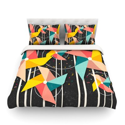 Colorful Pinwheels Abstract by Danny Ivan Featherweight Duvet Cover Size: Full/Queen