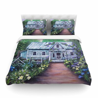 Ivy Cottage Again by by Cyndi Steen Featherweight Duvet Cover Size: Full/Queen