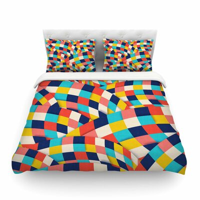 Curved Squares by Danny Ivan Featherweight Duvet Cover Size: Full/Queen