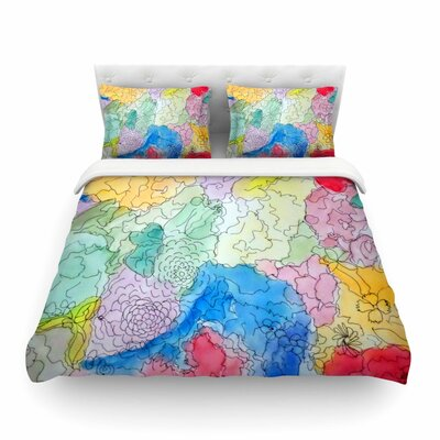 Floral Pathway by Cathy Rodgers Featherweight Duvet Cover Size: Full/Queen