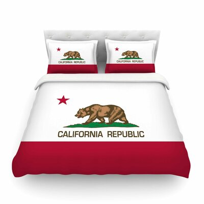 California State Flag by Bruce Stanfield Featherweight Duvet Cover Size: Twin