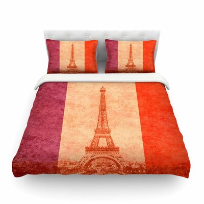 Vintage Paris by Bruce Stanfield Featherweight Duvet Cover Size: Twin