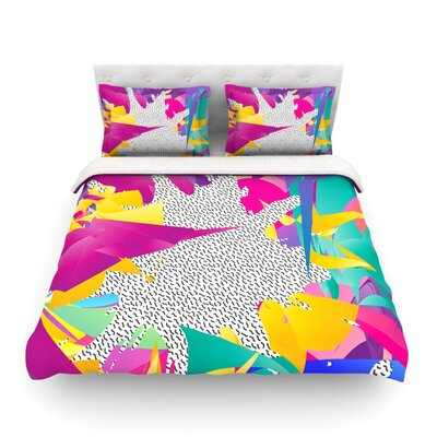 80s Abstract by Danny Ivan Featherweight Duvet Cover Size: Twin