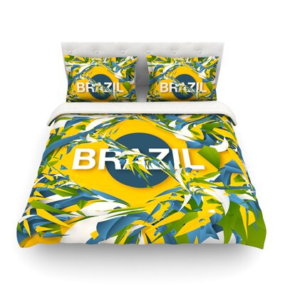Brazil World Cup by Danny Ivan Featherweight Duvet Cover Size: King