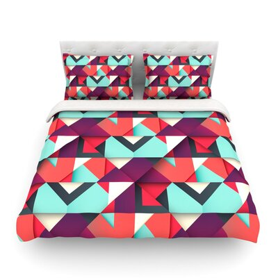 Shapes by Danny Ivan Featherweight Duvet Cover Size: Full/Queen