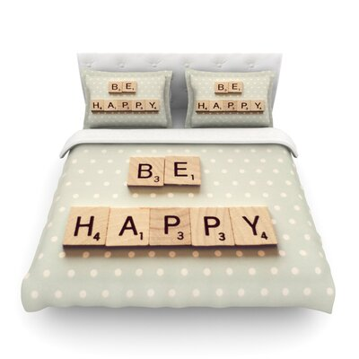 Be Happy by Cristina Mitchell Featherweight Duvet Cover Size: Twin