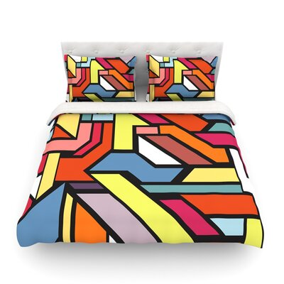 Abstract Shapes by Danny Ivan Featherweight Duvet Cover Size: Twin