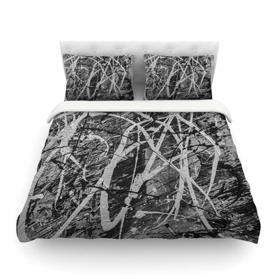 Verness in Grayscale Featherweight Duvet Cover Size: King