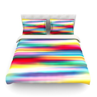 Blurry Cool Rainbow Blur by Danny Ivan Featherweight Duvet Cover Size: Full/Queen