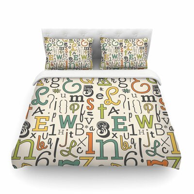 ABC by Busy Bree Featherweight Duvet Cover Size: Twin