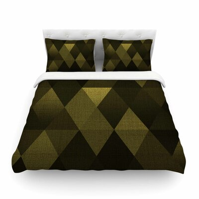 Golden Triangles by Cvetelina Todorova Featherweight Duvet Cover Size: Twin