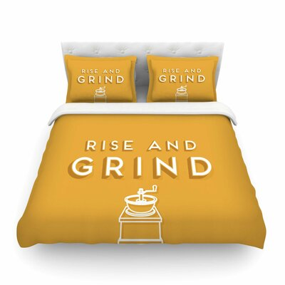 Rise and Grind by Busy Bree Featherweight Duvet Cover Size: Full/Queen