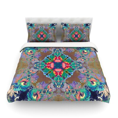 Flowery Kaleidoscope by Danii Pollehn Featherweight Duvet Cover Size: Full/Queen