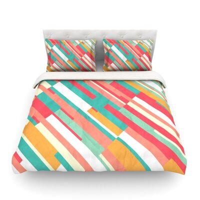 Droplines by Danny Ivan Featherweight Duvet Cover Size: Full/Queen