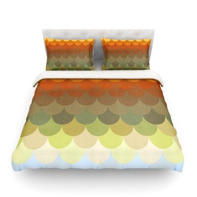Half Circle Waves Color by Danny Ivan Featherweight Duvet Cover Size: King
