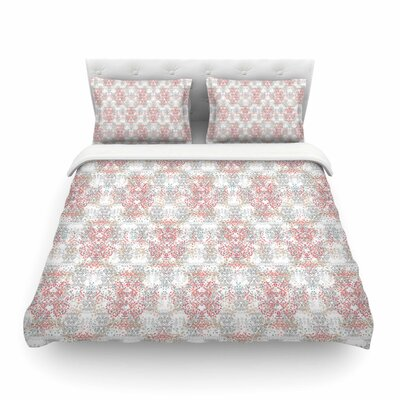 Damask Splatter by Carolyn Greifeld Featherweight Duvet Cover Size: King