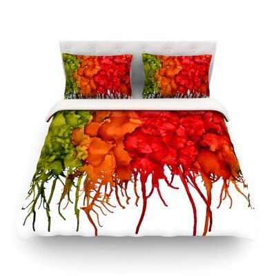Fall Splatter by Claire Day Featherweight Duvet Cover Size: Full/Queen
