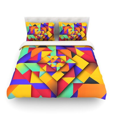 Shapes Geometric by Danny Ivan Featherweight Duvet Cover Size: King