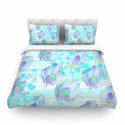 Featherdream Illustration by Danii Pollehn Featherweight Duvet Cover Size: Full/Queen