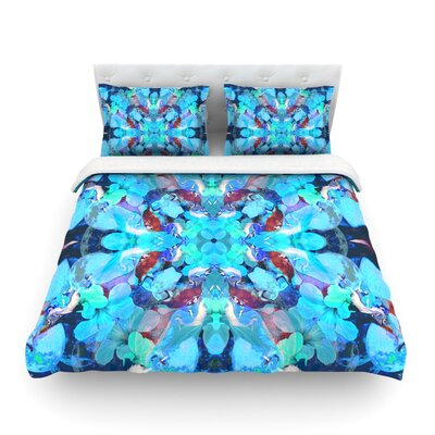 The Moon and a Fox by Danii Pollehn Featherweight Duvet Cover Size: King