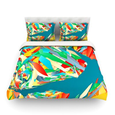 Soccer Slide Crazy Rainbow by Danny Ivan Featherweight Duvet Cover Size: King