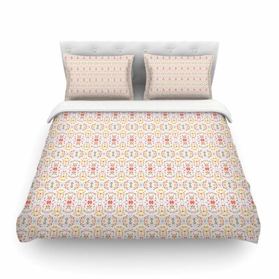 Bright Modern Shabby Pattern by Carolyn Greifeld Featherweight Duvet Cover Size: Full/Queen