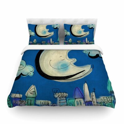 Moon by Carina Povarchik Featherweight Duvet Cover Size: Full/Queen