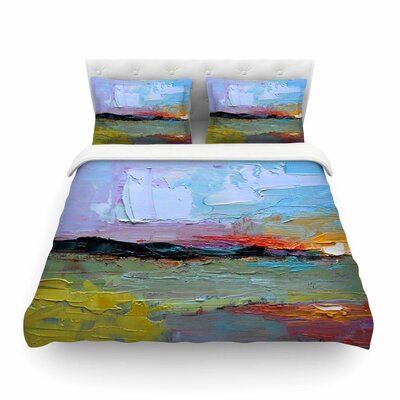 Hues Painting Featherweight Duvet Cover Size: Twin