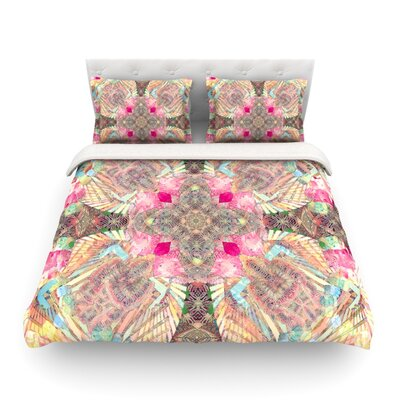 Indian Clash by Danii Pollehn Featherweight Duvet Cover Size: Twin
