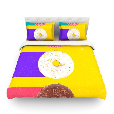 Donuts Featherweight Duvet Cover Size: Full/Queen