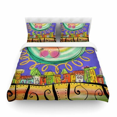 Sun by Carina Povarchik Featherweight Duvet Cover Size: Full/Queen