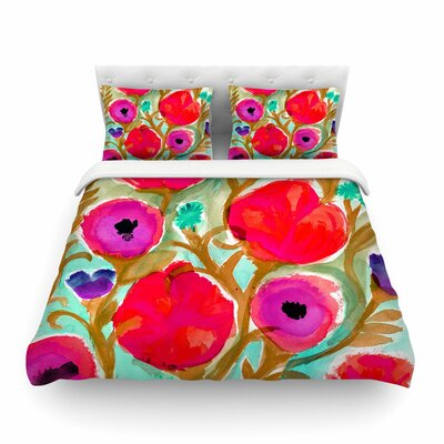 Fiona Flower by Crystal Walen Featherweight Duvet Cover Size: King