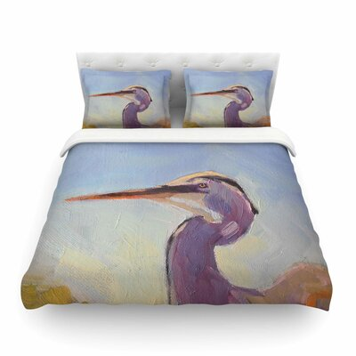Tropical Sentry Lavender Animals Featherweight Duvet Cover Size: King