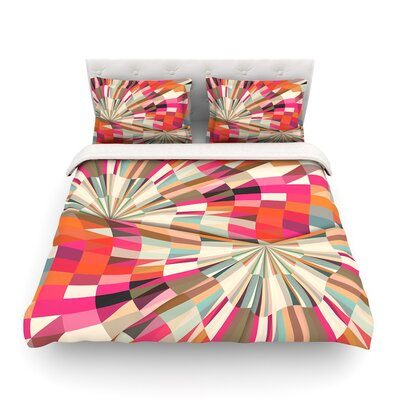 Convoke Geometric by Danny Ivan Featherweight Duvet Cover Size: Full/Queen