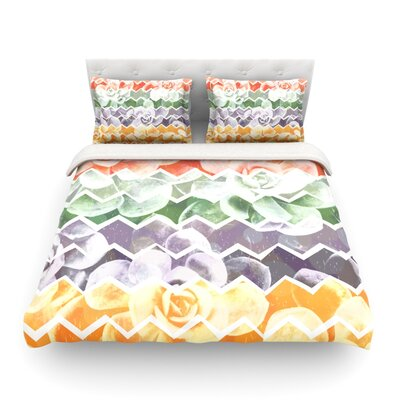 Desert Dreams Chevron by Daisy Beatrice Featherweight Duvet Cover Size: Full/Queen