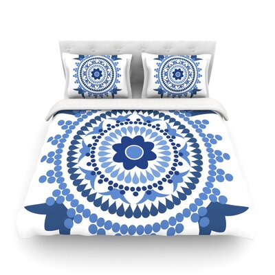 Bohemian Blues by Carolyn Greifeld Featherweight Duvet Cover Size: Full/Queen