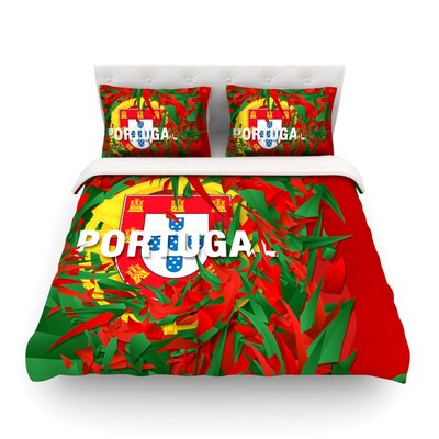 Portugal World Cup by Danny Ivan Featherweight Duvet Cover Size: Full/Queen