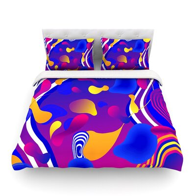 Bubbles by Danny Ivan Featherweight Duvet Cover Size: King