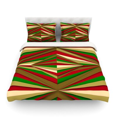 Christmas Pattern by Danny Ivan Featherweight Duvet Cover Size: Twin