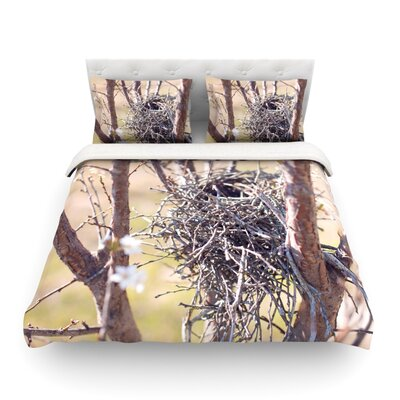 Nest by Catherine McDonald Featherweight Duvet Cover Size: Twin