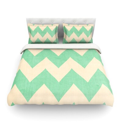 Salt Water Cure by Catherine McDonald Featherweight Duvet Cover Size: Full/Queen, Color: Malibu