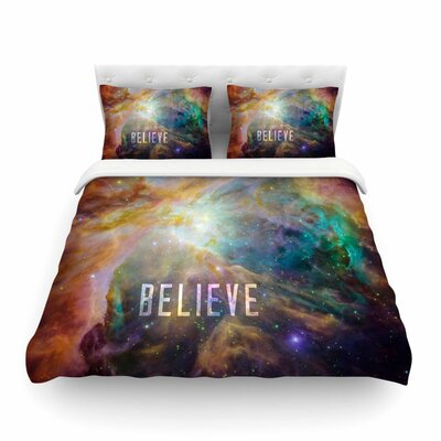 Orion Nebula Believe by Bruce Stanfield Featherweight Duvet Cover Size: Full/Queen