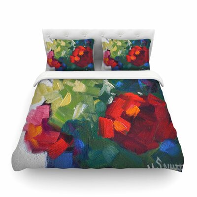 Cheerful Geranium Painting Featherweight Duvet Cover Size: Twin