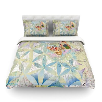 Miraculous Recovery Butterfly by Catherine Holcombe Featherweight Duvet Cover Size: Twin