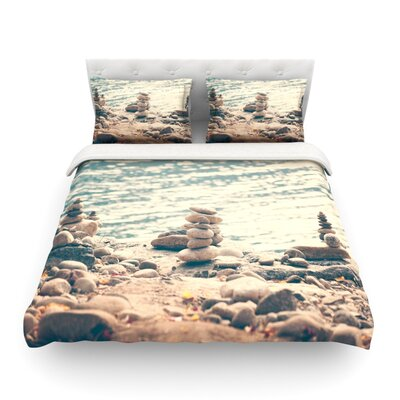 River Cairns by Catherine McDonald Featherweight Duvet Cover Size: Full/Queen