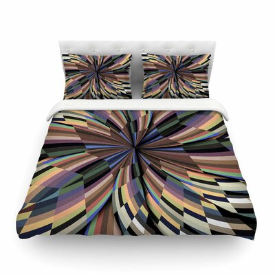 Love Affair Geometric by Danny Ivan Featherweight Duvet Cover Size: Twin