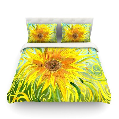 Sunflower Symphony by Catherine Holcombe Featherweight Duvet Cover Size: Full/Queen