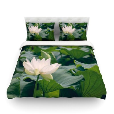 Lotus Pattern by Catherine McDonald Featherweight Duvet Cover Size: Twin