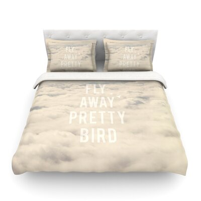 Fly Away Pretty Bird by Catherine McDonald Featherweight Duvet Cover Size: Twin